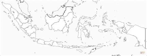 indonesia map coloring page  printable coloring
