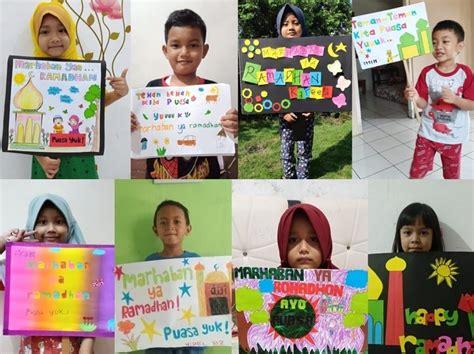 Celebrate ramadan with beautiful flyers and social media graphics. anak diajak sampaikan pesan ramadan lewat poster siedoo lihat