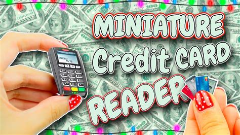 miniature credit card reader diy lps dollhouse