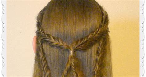 angel wings fishtail braid tie  hairstyle