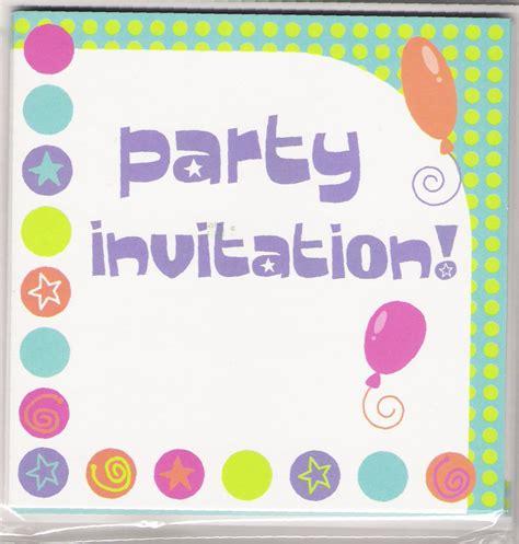 Birthday Party Invitation Card
