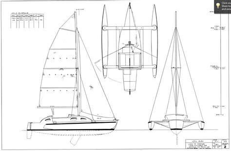 Catamaran Technical Drawing by Dc 3 Trimaran Model Wins Woodenboat Design Challenge Iii