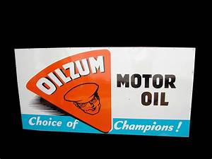 Fabulous Motor : fabulous 1950s oilzum motor oil single sided tin wood framed 93752 ~ Gottalentnigeria.com Avis de Voitures