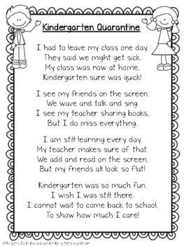 memory book quarantine poem    colors  kindergarten