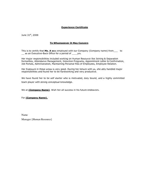 pin  varun reddy  experience letter job resume