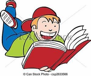 Enfant lit livre, gosse. Isolé, arrière-plan., livre ...