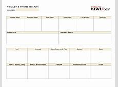 Meal Planner Template Google Docs planner template free