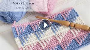 Crochet Stitch Chart Printable Learn Making The Spike Stitch Crochet Crochetbeja