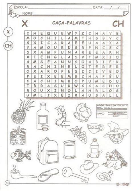 ch x 18 atividades para trabalhar o uso do x ou ch cantinho alternativo