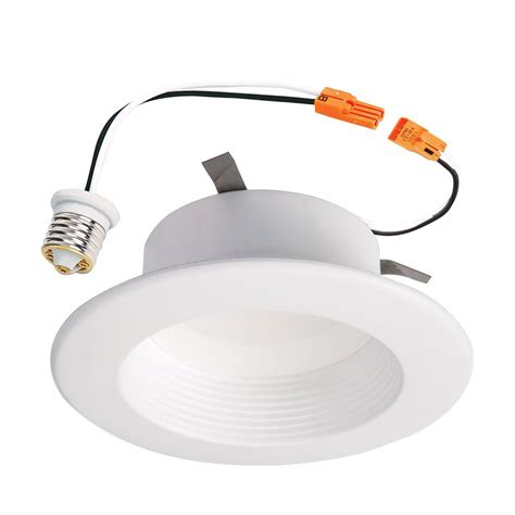 led recessed can light fixture halo rl 4 in white integrated led recessed ceiling light