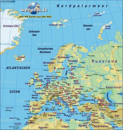 Karte von Europa, physikalisch (Europa, physikalisch ...