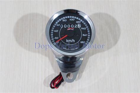 jual rpm speedometer jarum led indikator kilometer analog