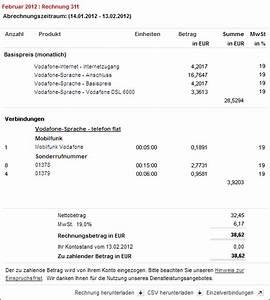 Meinvodafone De Rechnung : hilfe verbindungs bersicht einzelverbindungsnachweis ~ Themetempest.com Abrechnung