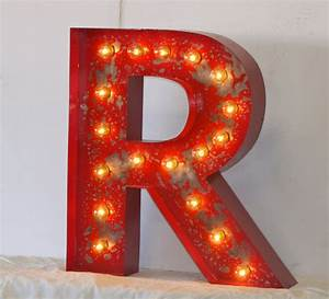 sale 24 large metal letter marquee vintage by junkartgypsyz With large marquee letters for sale