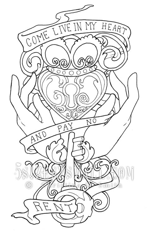 """The Claddagh Heart with quote, """"Come live in my heart, and pay no rent."""" 