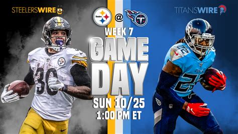 titans  steelers   stream time tv schedule