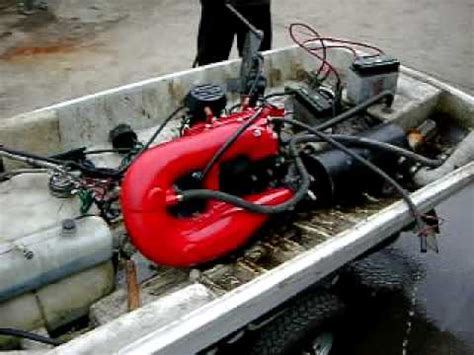 Jet Boat Engine Swap by Jet Ski Made In China Engine Test Youtube