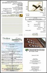Free church bulletin layouts greenwood bulletin1 bb pinterest layout church and church for Church bulletin ideas layouts