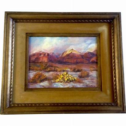 Board Painting Canvas Oil Dee Frame Landscape