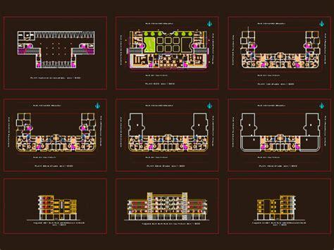 office  habitation  level building  tunis dwg block