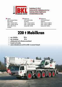 Crane Load Charts And Corporate Brochures