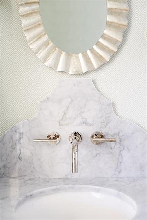 St James Single Vanity in Powder Room   Transitional