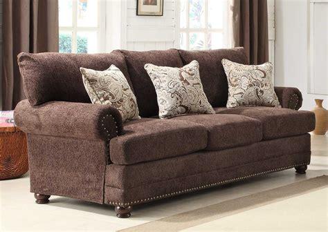 homelegance elena sofa chocolate chenille affiliation