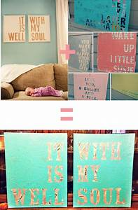 Gallery for inspirational canvas wall art diy quote