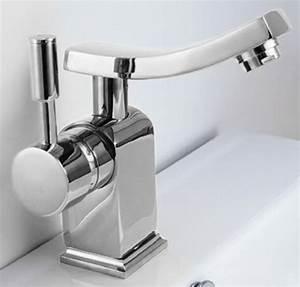 design salle de bain lavabo lever unique robinet mitigeur With robinet design salle de bain