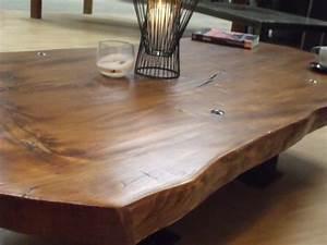 Table Bois Massif Design : table basse en bois massif micheli design meuble de style industriel bois et acier sur ~ Teatrodelosmanantiales.com Idées de Décoration
