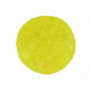 tapis rond jaune barcelo achat vente tapis cdiscount With tapis rond couleur