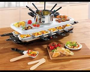Raclette Und Fondue Set : gourmet maxx raclette fondue set with ceramic coating for ~ Michelbontemps.com Haus und Dekorationen