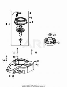 Mtd 1t65nua Engine Parts Diagram For 1t65nua Flywheel  U0026 Shroud