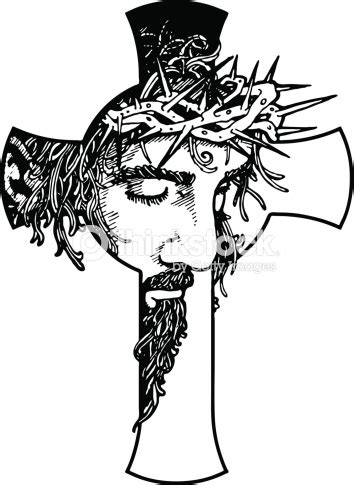 Abstract Jesus Black And White by Jesus Cross Stock Vector Thinkstock