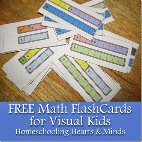 Free Printable Math Flashcards For Visual Learners  Free Homeschool Deals