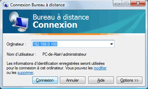 bureau 224 distance ou remote desktop contr 244 le 224 distance microsoft r 233 seau aidewindows net