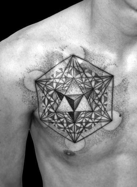 60 Metatron's Cube Tattoo Designs For Men - Geometric Ink