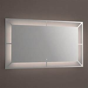miroir lumineux led salle de bain anti buee 120x70 cm With miroir led anti buée