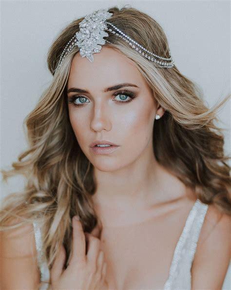 Bridal headpiece - Bohemian headjewellery - Allegra by ...