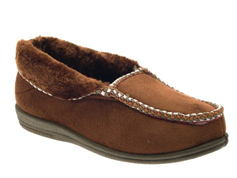 Fur Lined Womens Moccasin Slippers Boots Moccasins Faux
