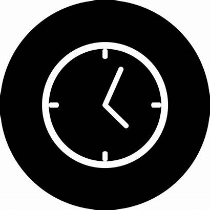 Clock Icon Background Circle Clipart Svg Funky
