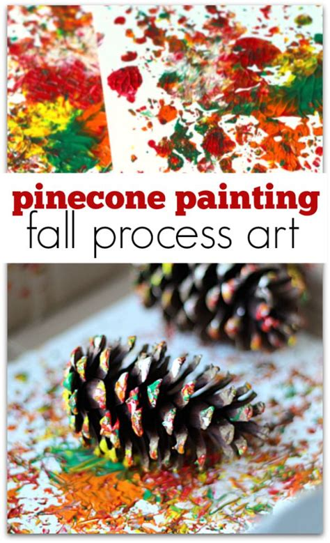 pinecone painting process crafts for fall 999 | dda4ac0297cbaff0a82395f1d4c93bd5