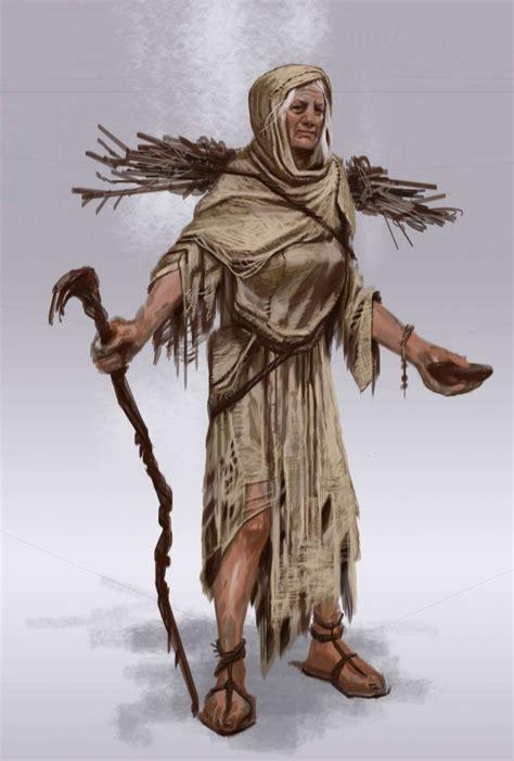 Beggar Female Concept Art From The Elder Scrolls V Skyrim