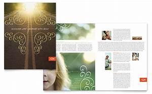 Newsletter Templates Powerpoint Christian Church Religious Brochure Template Design