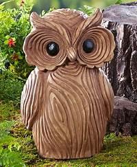 owl garden statue Wood Look OWL Garden Statue Sculpture Lodge Cabin Yard Art NEW