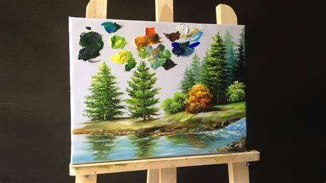 how to paint a l how to paint pine trees in acrylics your own