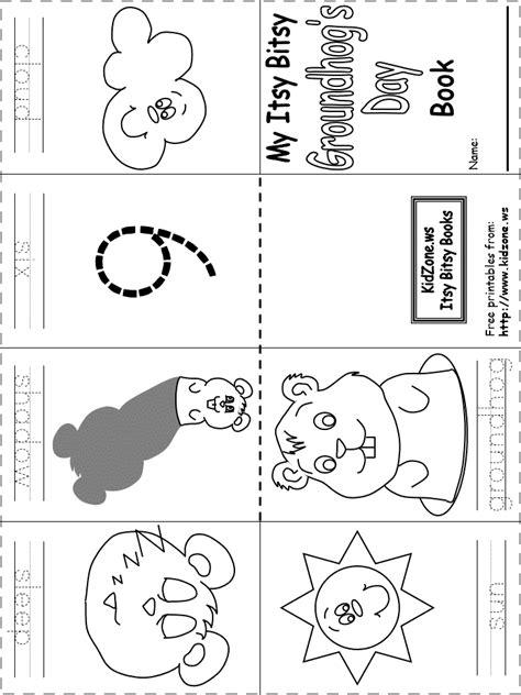 groundhog day worksheets kindergarten itsy bitsy ground hog day book free printable