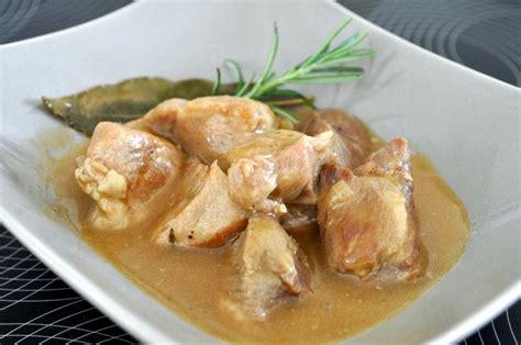 recette de cuisine grand mere eminces de porc sauce grand mere