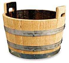 wine barrel tub oak tub planter