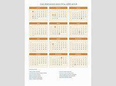 Calendario Bolivia Año 2018 Feriados